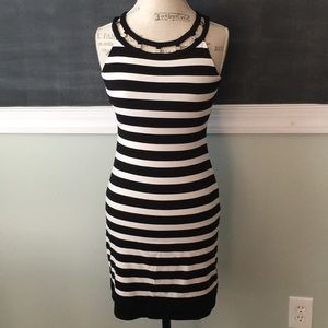 White House Black Market Striped Dress XS